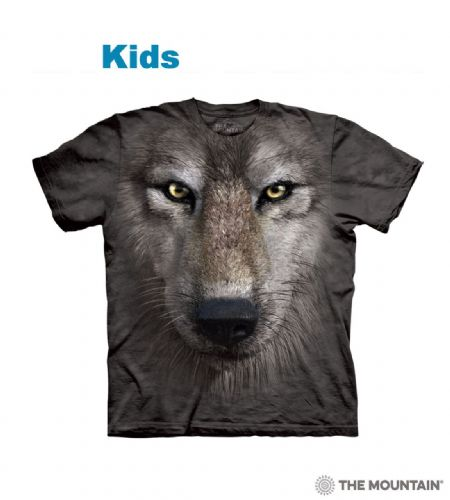 Wolf Face - Kids Big Face T-shirt - The Mountain®